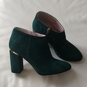 Kate Spade Booties Emerald Green 5.5